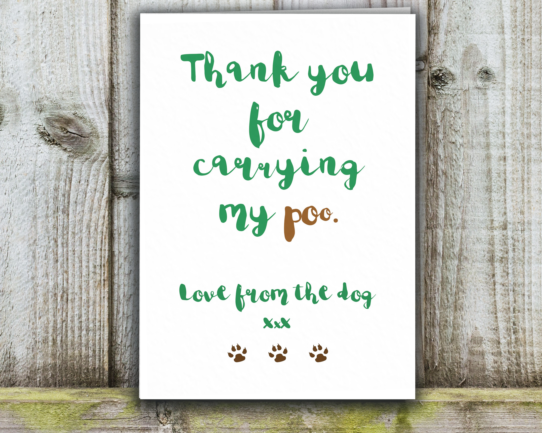 Well-liked Funny thank you card from the dog RF15